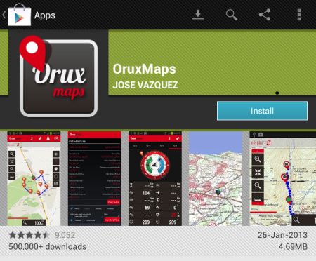 Asenna Orux Maps